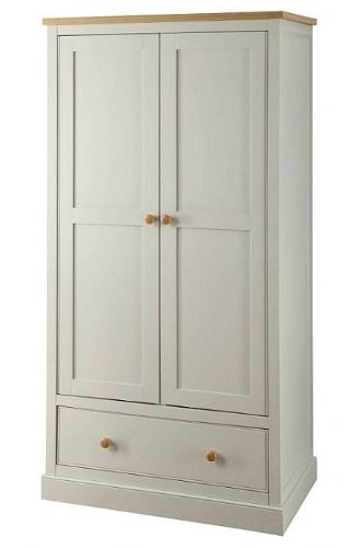 Toulouse Grey 1 Drawer Double Wardrobe
